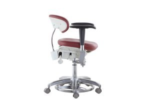 SoHome Microsope Dynamic Chair Foot Controlled Doctor's Mobile Stool with Swiveling Armrest MDS-FC1 by SoHome (Image #1)