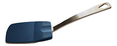 Norpro 18/10 Stainless Steel & Heat-Resistant Flexible Nylon Mini Spatula (1-pack, Blue)