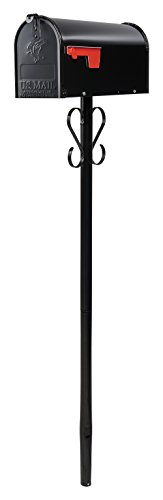 Gibraltar Premium - Galvanized Steel Black, Mailbox Post, PBK00000