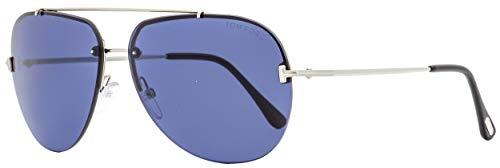 - 2018 Tom Ford Brad-02 FT0584 16V Men Metal Brow Bar & T Rimless Aviator Sunglasses