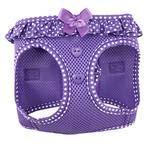 DOGGIE DESIGN American River Choke Free Dog Harness (M, Paisley Purple Dot) ()