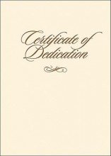 Certificate - Dedication - Folded with Envelope (6 Pack)