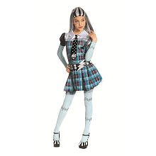 Girls Monster High Deluxe Frankie Stein Costume with Wig (Large 10/12) (Frankie Stein Wig)