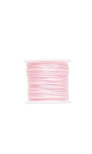 (100 Feet Imitation Silk Beading Cord Macrame Jewelry Craft Beads 1mm (PINK) )