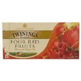 New Twining Four Red Fruits , Tea Bags , Instant Tea 2g. X 25 Pack