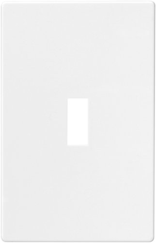 EATON PJS1W Arrow Hart Pjs1 Mid Size Screw Less Wall Plate, 1 Gang, 4-7/8 In L X 3-1/8 In W X 0.08 In T, ()