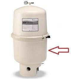 Pentair 197130 Bottom Tank Assembly Replacement SMBW 4000 Series Pool/Spa D.E. Filter by Pentair