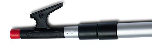 WindRider Telescoping Boat Hook | 3.5-8ft | Floats | Double Grip | Super Strong Hook | Threaded End for Accessories