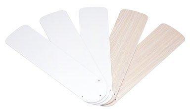 """Westinghouse 7741600 52"""" White & Bleached Oak Reversible Fan"""