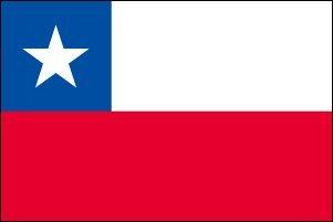 世界の国旗 チリ 国旗 [140×210cm 高級テトロン製]   B0090ZUFVK