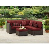 Rush Valley 3-piece Outdoor Sectional Sofa Set, Red, Seats 5