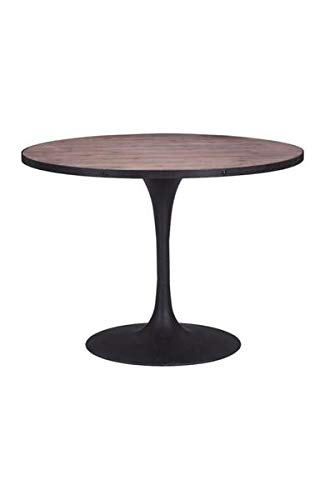 Black & Fir Wood 42'' Circular Meeting Table by Unknown (Image #2)