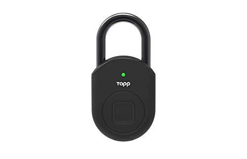 Tapplock lite – Fingerprint Bluetooth Biometric Keyless Smart Padlock (Ash Black)