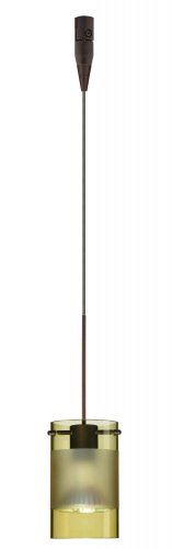 (Besa Lighting RXP-6524EL-BR 1X50W Mr16 Scope Pendant with Olive/Frost Glass, Bronze Finish)