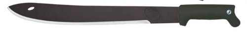 Condor Tool and Knife 18-Inch UltraBlaC2 Jungle Saber Machete, Black Handle, Leather Sheath For Sale