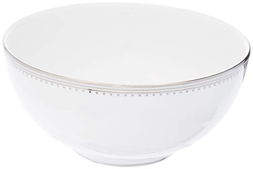 Vera Wang by Wedgwood 50116407244 Grosgrain Soup and Cereal Bowl, 5.75, White