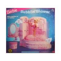 """Barbie BUBBLIN 'SHOWER BATH Juego de juegos """"SPRAYS"""" ¡BURBUJAS reales! (1992)"""