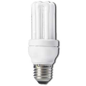 Philips Ampoule Economie d'é nergie 8 watts Blanc E27 MASTER PL E 8w 2700K /827 230v 15000 Heures 40x119 MASTER PL-E8W/8