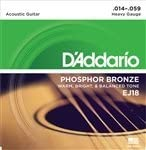 3 Sets of NEW DAddario EJ18 Acoustic Guitar Strings Heavy