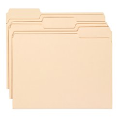 Office Depot Economy File Folders, 1/3 Cut, Letter Size, Manila, Pack Of 150, 172816