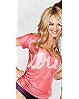 Victoria's Secret Scoopneck Tee Pink/Love Candice