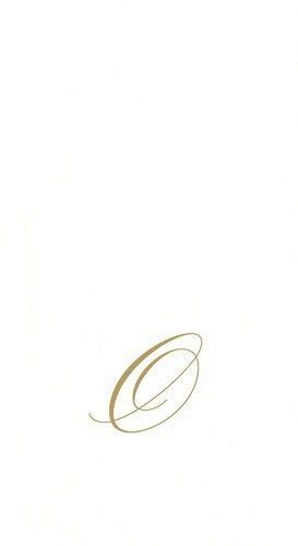 Entertaining with Caspari White Pearl Paper Linen Guest - Monogram O Hand Towel
