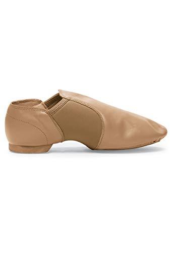 Balera Jazz Dance Shoe Leather Slip-On Split Sole Black 4AM]()