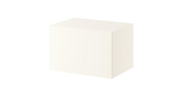 IKEA BESTA - Estantería con puerta, blanco - 60x40x38 cm ...