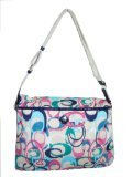 Coach Signature Ikat Scribble Print Foldover Convertible Tote Bag 24449 Multi