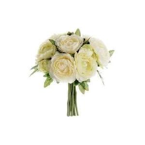 "Allstate Ranunculus Silk Wedding Bouquet in Cream Green - 6.5"" Tall 4"