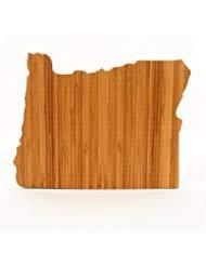 Cutting Board Company Oregon Shaped Cutting Board, Bamboo Cheese - State Cutting Set Board