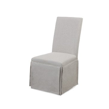 39 in. Skirted Parsons Chair - Set of 2 (Skirted Parsons Chair)