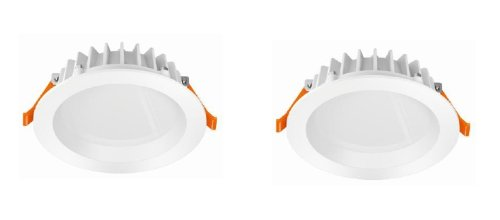 Osram PUNCTOLED LED Einbauleuchten 2x5.5W Alu 2er-Set 4052899910645
