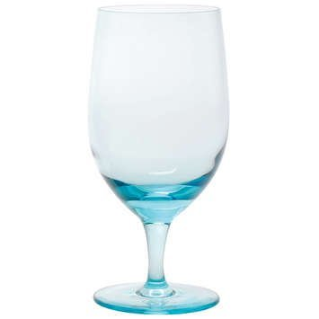 D&V Gala Goblet Aquamarine Glasses - Set of 12