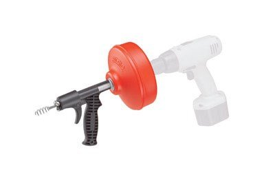 Ridgid GIDDS-813340 41408 Power Spin with AUTOFEED, Maxcore Drain Cleaner Cable, and Bulb Drain Auger to Remove Drain Clogs Drain Pipe Auger