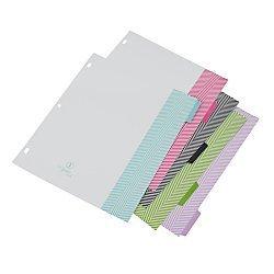 See Jane Work(R) 5-Tab Dividers, Assorted Herringbone by See Jane Work