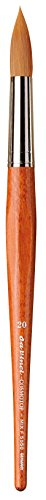 - da Vinci Watercolor Series 5550 CosmoTop Mix F Paint Brush, Round Synthetic/Natural Mix, Size 20 (5550-20)