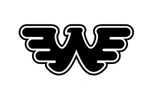 WAYLON JENNING ROCK BAND WING LOGO STICKERS ROCK BAND SYMBOL 6' DECORATIVE DIE CUT DECAL - BLACK