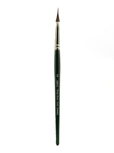Silver Brush 2515S-M Ruby Satin Short Handle Synthetic Brush, Pointed Triangle, Medium by Silver Brush Limited