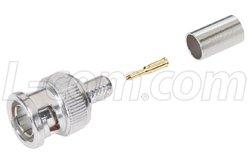 - 75 Ohm BNC Crimp Plug, 3 Pc. for RG6 Cable