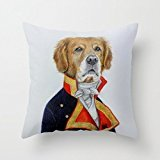 Price comparison product image 18 x 18 inches / 45 by 45 cm dogs throw pillow case , both sides ornament and gift to home, saloon, kids girls, couch, adults, relatives