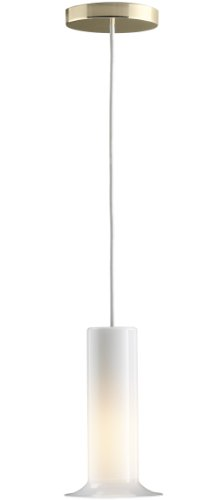 KOHLER K-14472-AF Purist Single Ceiling-Mount Pendant Light, Vibrant French Gold