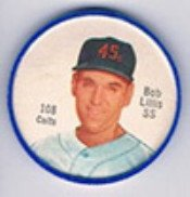 1962 salada tea coins (Baseball) Card# 108 Bob Lillis of the Houston Colt .45s ExMt Condition