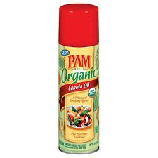Pam Organic Canola Oil Non Stick Cooking Spray 5oz Can (Pack of 6)