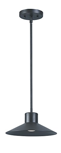 - Maxim 54367FTABZ Civic LED 1-Light Outdoor Pendant, Architectural Bronze Finish, Frosted Glass, PCB LED Bulb , 100W Max., Wet Safety Rating, Standard Dimmable, Shade Material, Rated Lumens