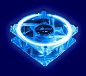 Logisys Corp. 80mm Cooling Fan with Ultra Violet Clear Blue LED CCF80UVBL