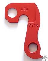 - Pilo D20 Red Derailleur Hanger - Fits: Ellsworth, Merlin