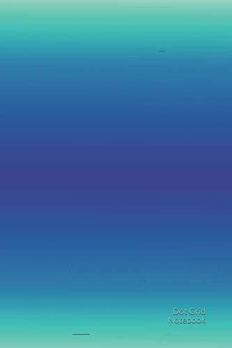 Dot Grid Notebook: Azurblau Punktraster Notizbuch Journal 120 Seiten (Farbverlauf Hellblau)