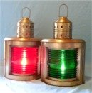 Starboard Lamp (Antique Brass Finish Port & Starboard Ship Lamps)