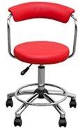 【前後左右に楽々移動】 パーソナル カウンターチェア 椅子 (レッド/RD) B06X3VP3GN レッド/RD レッド/RD